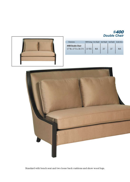 #400 Double Chair